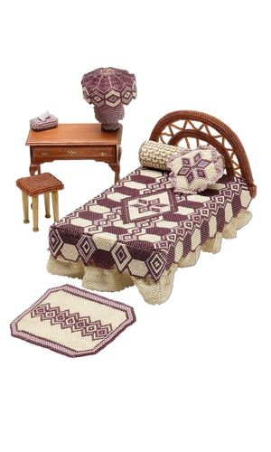 Miniature Beaded Bedroom Set with Delica Seed Beads from Fire Mountain Gem sites