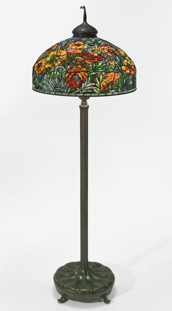 Tiffany Studios Quot Oriental Poppy Quot Floor Lamp With A
