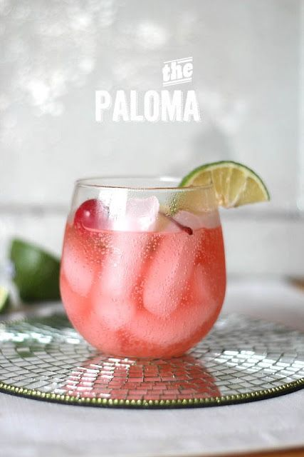 The paloma cocktail : . 2 oz blanco tequila . 6 oz Grapefruit soda, or ...