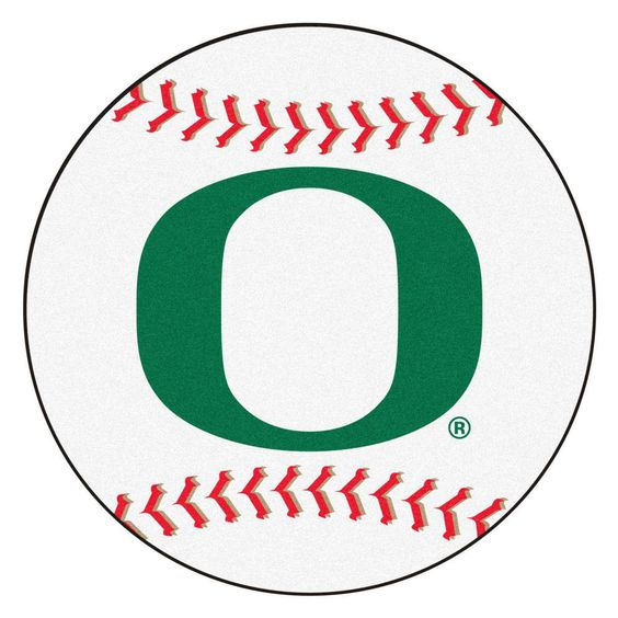 Ncaa University of Oregon White 2 ft. 3 in. x 2 ft. 3 in. Round Accent Rug