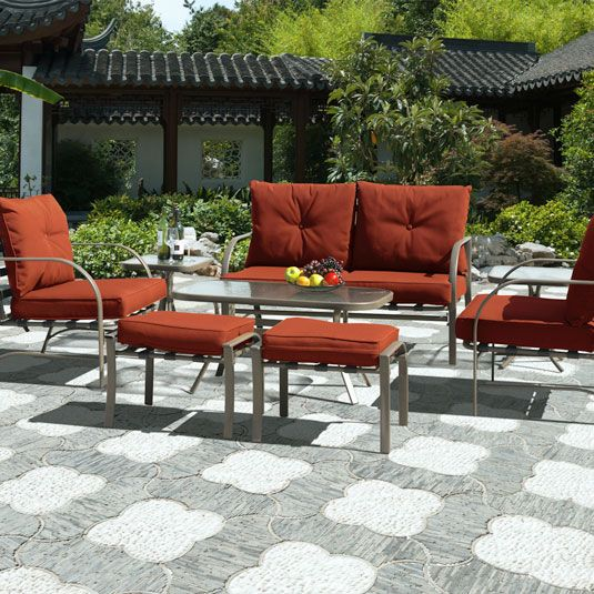 Tamarack 8pc Patio Set: Loveseat, 2 Chairs, 2 Ottomans, Cocktail Table, 2  End Tables By Jeromeu0027s Furniture, SKU AMN90PF19 | Pinterest | Patios, ...