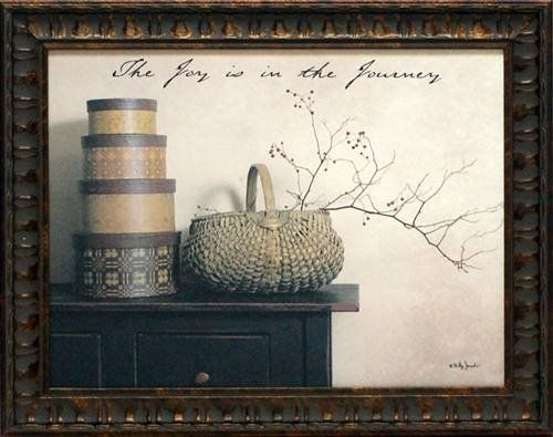 Joy is the Journey by Billy Jacobs 15x19 framed artwork country ...