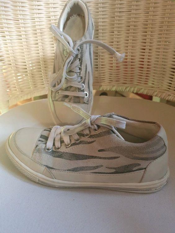 Idealne Jasne Skorzane Trampki 31 19cm Dziewczynka Golden Goose Sneaker Shoes Sneakers
