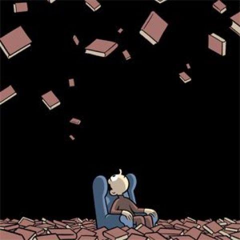 It's raining books! Illustration by Max Babelia