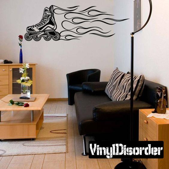 Rollerblading Wall Decal - Vinyl Decal - Car Decal - CDS038