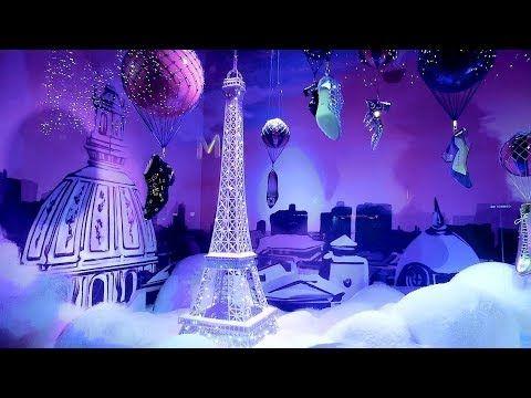 Paris Vitrines De Noel Christmas 2017 Printemps Haussmann Galeries Laf Vitrine Noel Illumination Noel Galeries Lafayette