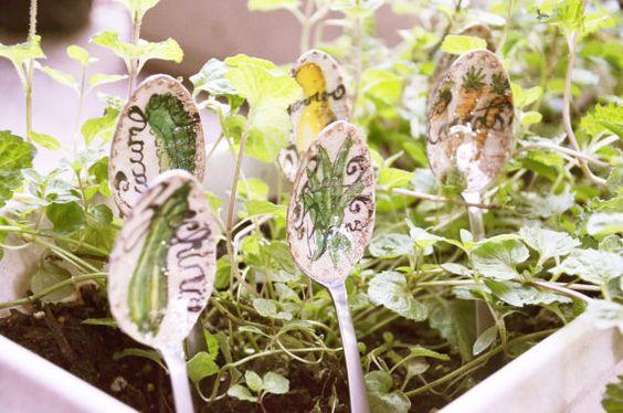 Set of 6 MODERN Herb / Vegetable Garden by LEsperanceDesign, $42.00