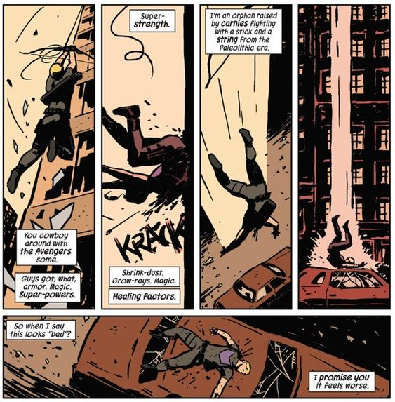 He's a normal dude trying his best to be a superhero. | Community Post: 24 Reasons Why You Should Be Reading Matt Fraction's Hawkeye: