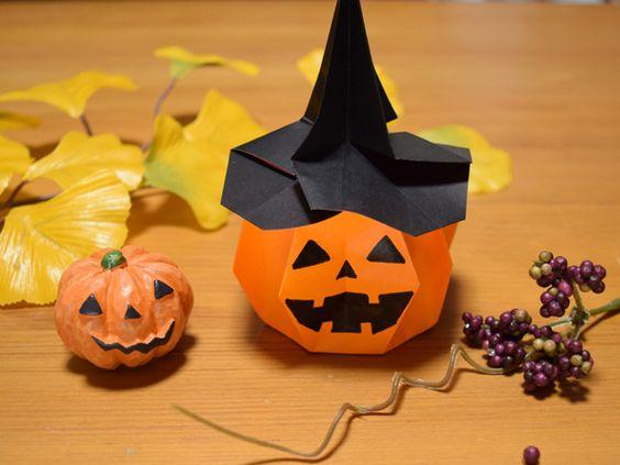 クリスマス 折り紙 : 折り紙 ハロウィン かぼちゃ : jp.pinterest.com