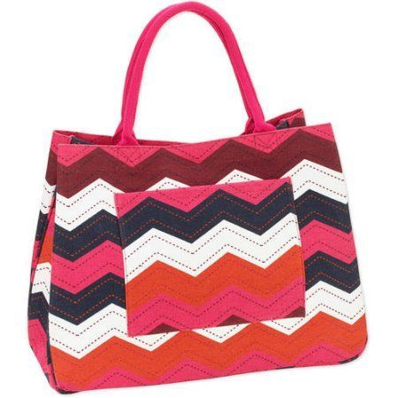 No Boundaries 20'' Women's Printed Canvas Tote Beach Bag | Beaches ...