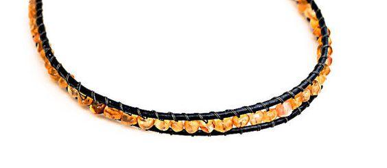 Hair Jewelry Gemstone Headband Carnelian by Desperer on Etsy