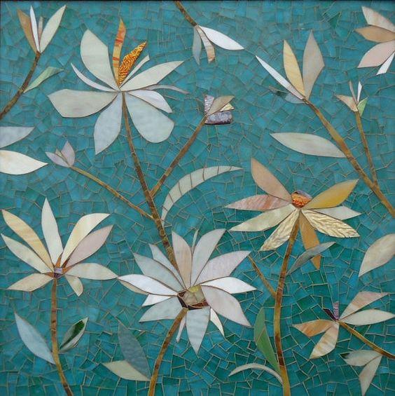 MOSAIC WALL PANEL hand-cut stained glass von ParadiseMosaics