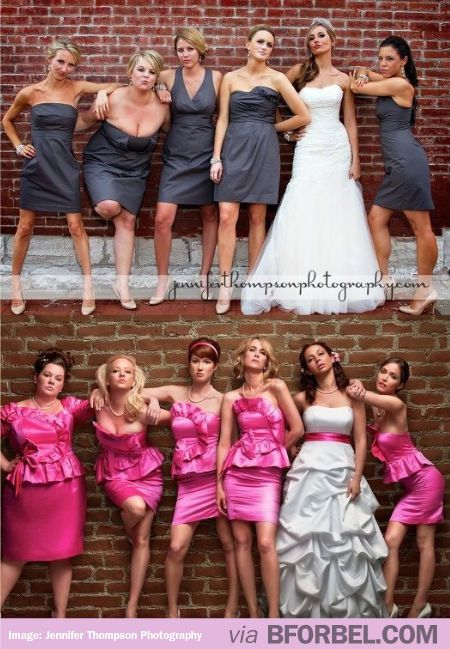 """""""Bridesmaids"""" Wedding Photo Idea! We could do this so much better"""