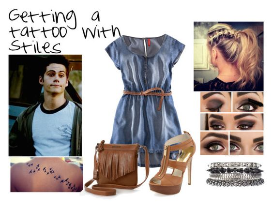 """""""getting a tattoo with stiles"""" by teen-wolf-and-magcon-sets ❤ liked on Polyvore featuring BP., H&M, MICHAEL Michael Kors, Rosetti and 1&20 Blackbirds"""