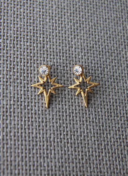 Elizabeth Cole Jewelry Bri Earrings in Golden - H15E28