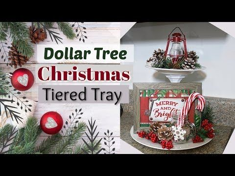 Diy Dollar Tree Christmas Tiered Tray Dollar Tree Christmas Diy Krafts By Katelyn Youtube Dollar Tree Christmas Dollar Store Christmas Dollar Tree Diy