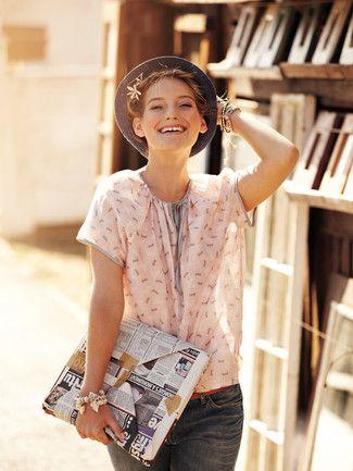 Schnittmuster: Bluse - Bindeband am Ausschnitt - Blusen - Blusen & Tuniken - Damen - burda style