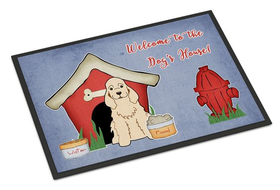 Dog House Collection Cocker Spaniel Buff Indoor or Outdoor Mat 18x27 BB2848MAT