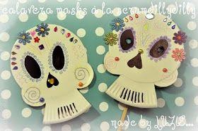 scrumdilly-do!: Make Paper Plate Calaveras Masks!