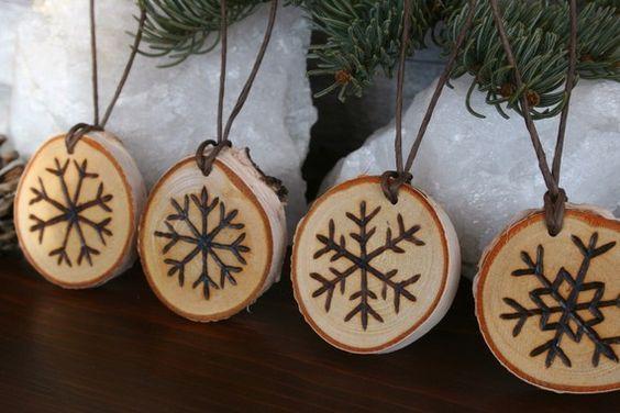 woodburnt ornaments