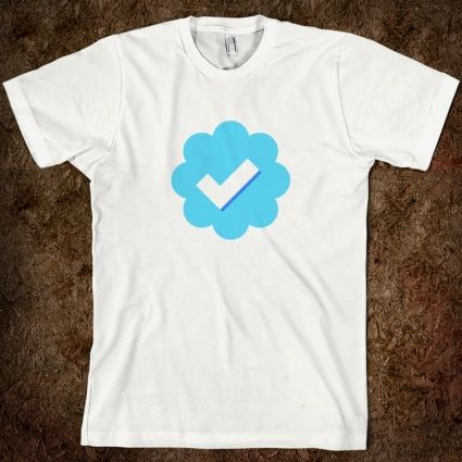 10 Terrific Twitter T-Shirts, all of which made me smile. http://mashable.com/2012/08/28/twitter-t-shirts/#