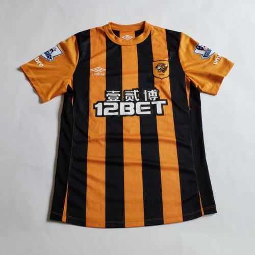 Small Hull City Tigers Home Shirt Replica Yannick Sagbo Jersey Umbro Epl Soccer Hull City Umbro Football Shirts