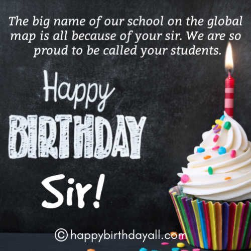 31 Best Happy Birthday Wishes For Principal With Images Birthday Wishes For Teacher Happy Birthday Video Happy Birthday Wishes