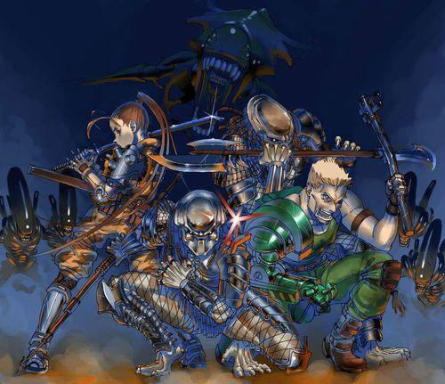 Alien Vs Predator Arcade Lev8 Lt Lynn Kurosawa no death ...