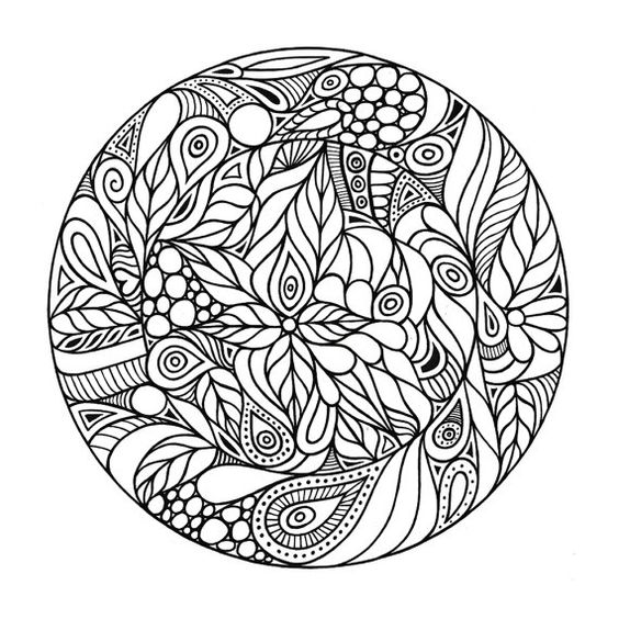 Adult Coloring Page Trippy Circle by 123adultcoloring on Etsy ...