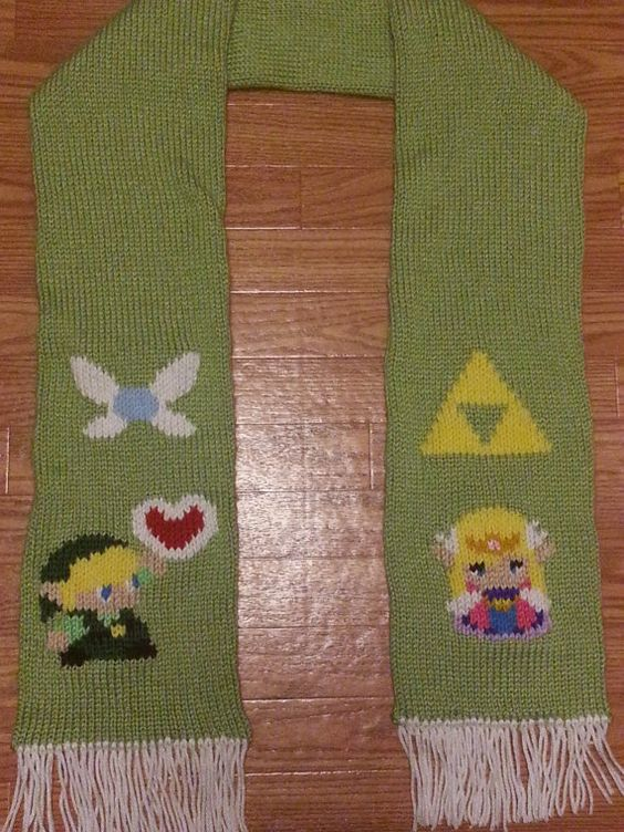 Legend Of Zelda Knitting Pattern : Zelda legends and scarfs on pinterest