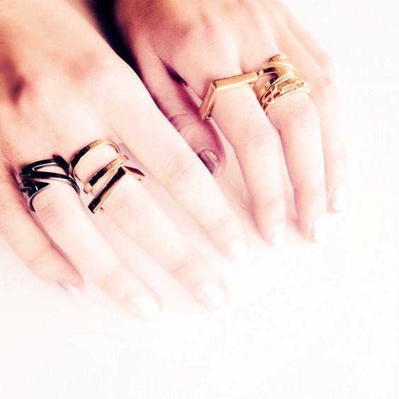 """Janesko """"Traveler"""" rings.      #travel #ring #modern #madeintheusa #sterling #janesko"""