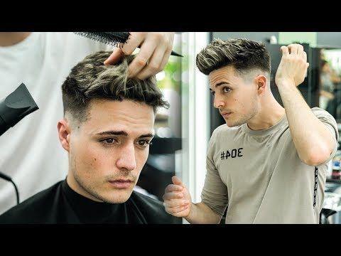 Skin Fade Textured Quiff Haircut Hairstyle Tutorial Mens Summer Hair Blumaan 2018 Youtube Hairstyletutorials Quiff Haircut Quiff Hairstyles Mens Quiff