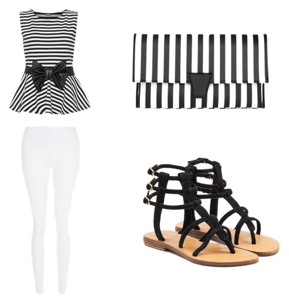 """""""Black and white"""" by pinkprincessbeauty on Polyvore featuring New Look, WearAll and Mystique"""