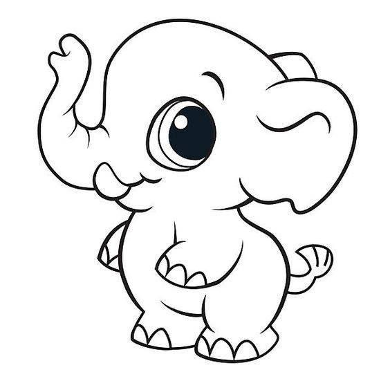 Animalitos Para Colorear 22 Elefantes Para Colorear Animales Animados Para Colorear Dibujos De Elefantes