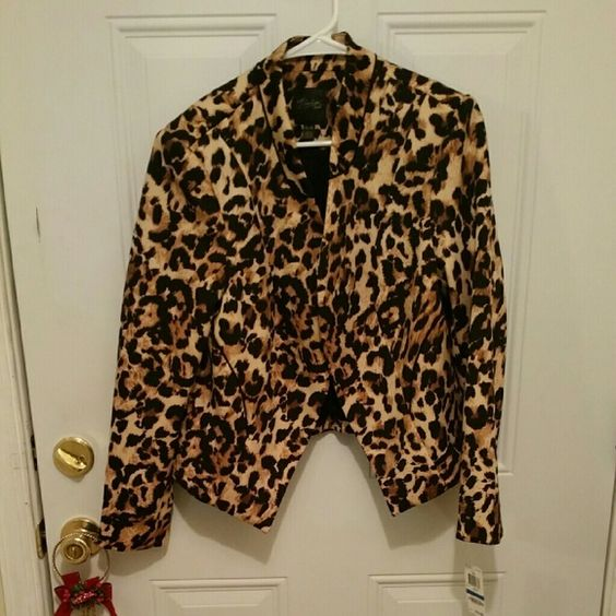 Jacket Sexy n chic animal print jacket. Casual to dressy. Brand new, never worn still with original tags. Thalia Sodi Jackets & Coats