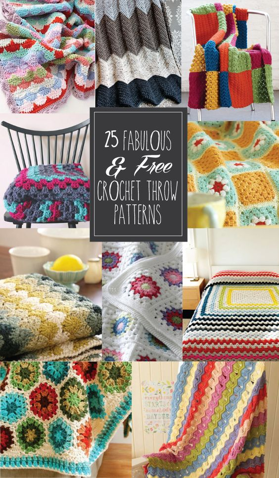 25 Fabulous & Free Crochet Throw Patterns - Free Crochet Patterns - (flamingotoes):