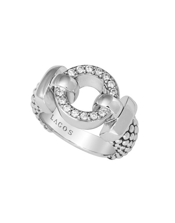 A sparkling right-hand ring to carry you through the holiday party season. LAGOS | Enso