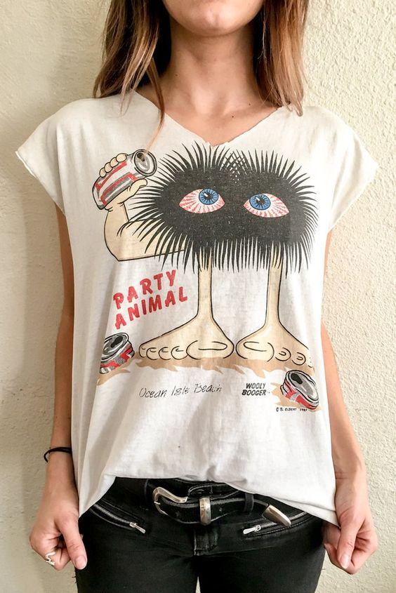 1987 RARE Party Animal Wooly Booger Vintage Tee