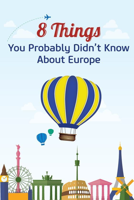 If you love travelling, it's almost certain that there is Europe somewhere on your bucket list. In celebration of the European Day of Languages our blog '8 Things You Probably Didn't Know About Europe' will make you fall in love with Europe even more.: