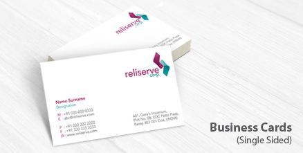 Visiting cards are another way to promote your business online. Beautiful #visiting #cards represent you.