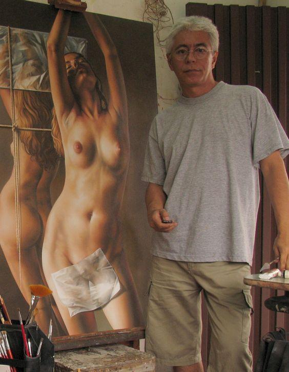 Fredy Jimenez nacio en Cali, Colombia 1961 es un Pintor Autodidacta Coloca al…: