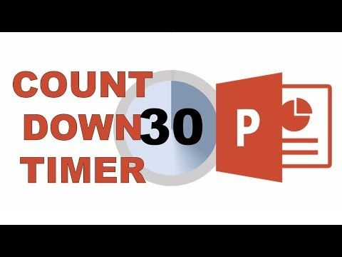 30 Second Countdown Timer In Powerpoint Youtube Powerpoint Powerpoint Tutorial Countdown Timer