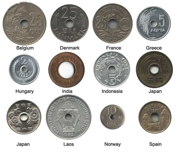 World Coin Collecting: Coins with Holes (Holed Coins)
