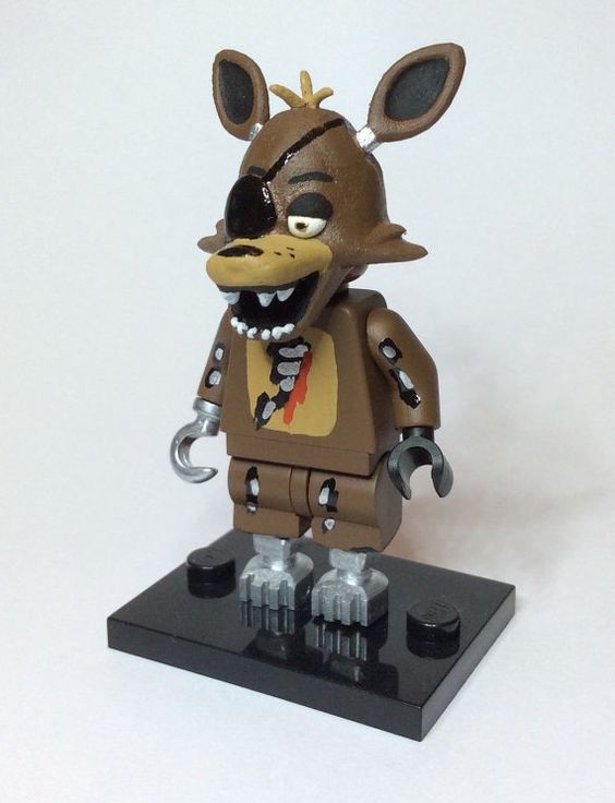8Pcs Minifigures lego MOC Five Nights at Freddy/'s Freddy Chica Bonnie Foxy Toy