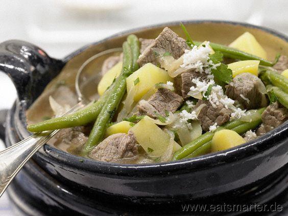 Schlanke Variante von Omas gehaltvoller Lieblingssuppe: Tafelspitzeintopf - smarter - mit grünen Bohnen. Kalorien: 317 Kcal | Zeit: 100 min. #recipes #fall
