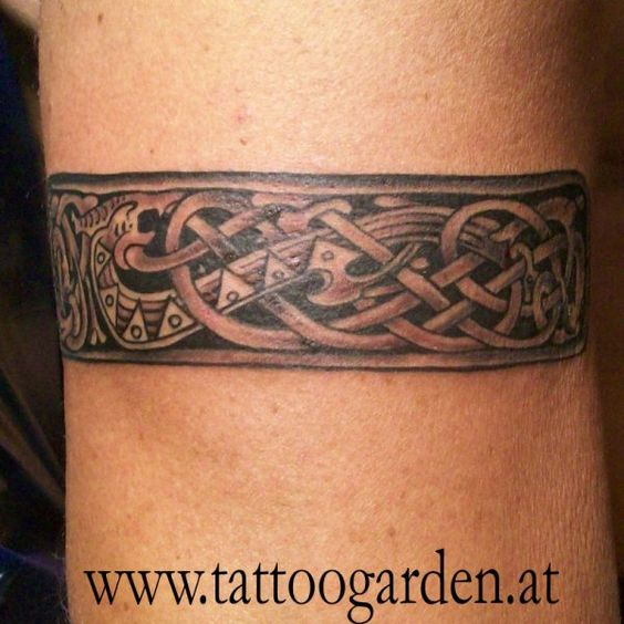 Norse armband tattoo pictures to pin on pinterest tattooskid for Saxon warrior tattoos