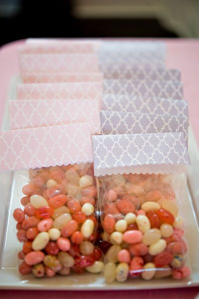 Make your own candy bags for favors!