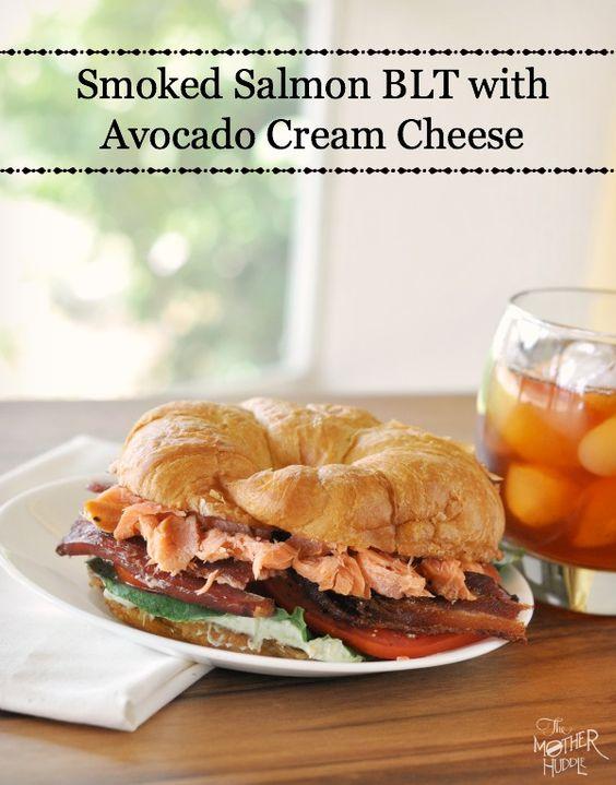 Smoked Salmon BLT With Avocado Cream Cheese