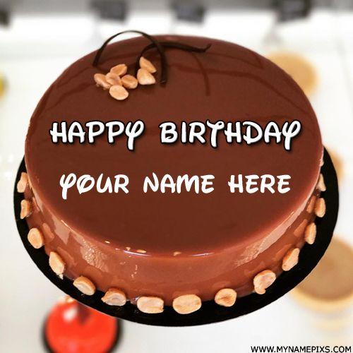 Write Your Name On Hot Chocolate Mirror Birthday Cake Tasty