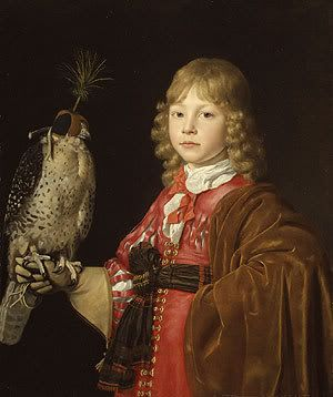 Portrait of a Boy with a Falcon by Walerant Vaillant